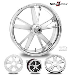 Charger Chrome 18 Fat Front Wheel Tire Package 13 Rotor 00-07 Bagger