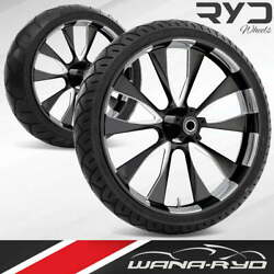 Ryd Wheels Diode Starkline 21 Front And Rear Wheels Tires Package 00-07 Bagger