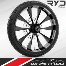 Ryd Wheels Diode Starkline 23 Front Wheel Tire Package Single Disk 00-07 Bagger