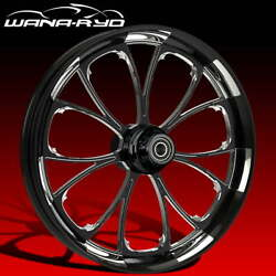 Ryd Wheels Arc Starkline 18 Fat Front And Rear Wheels Tires Package 2008 Bagger