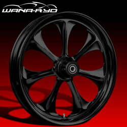 Ryd Wheels Atomic Blackline 23 Fat Front And Rear Wheels Only 00-07 Bagger