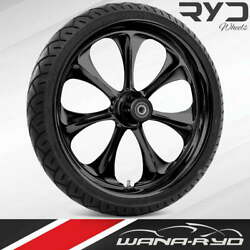 """Atomic Blackline 21 X 5.5"""" Fat Front Wheel And 180 Tire Package 00-07 Touring"""
