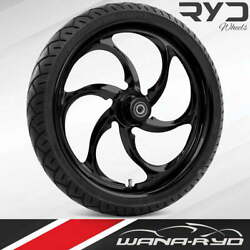 Ryd Wheels Reactor Blackline 30 Front Wheel And Tire Package 08-19 Bagger