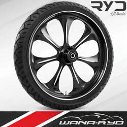 """Atomic Starkline 21 X 5.5"""" Fat Front Wheel And 180 Tire Package 00-07 Touring"""