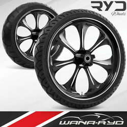 Ryd Wheels Atomic Starkline 23 Front And Rear Wheels Tires Package 09-19 Bagger