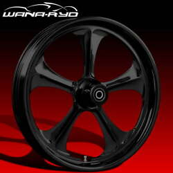 Ryd Wheels Adrenaline Blackline 21 Fat Front And Rear Wheels Only 2008 Bagger