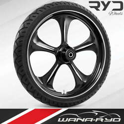 """Adrenaline Starkline 21 X 5.5"""" Fat Front Wheel And 180 Tire Package 00-07 Touring"""