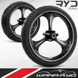 Ryd Wheels Amp Starkline 21 Front And Rear Wheels Tires Package 00-07 Bagger