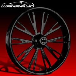 Ryd Wheels Resistor Blackline 30 Front Wheel And Tire Package 08-19 Bagger