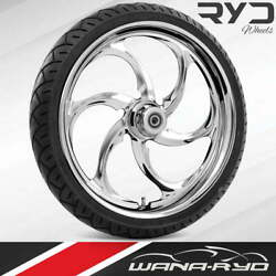 Reactor Chrome 21x5.5 Fat Front Wheel And 180 Tire Package 08-20 Harley Touring