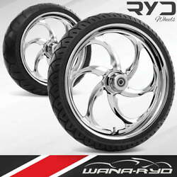 Rea215183frwtdd07bag Reactor Chrome 21 Fat Front And Rear Wheels Tires Package D