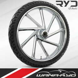 Ryd Wheels Kinetic Chrome 23 Front Wheel And Tire Package 00-07 Bagger