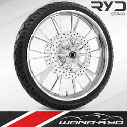 Ryd Wheels Diode Chrome 21 Front Wheel Tire Package Dual Rotors 08-19 Bagger