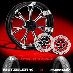 Performance Machine Paramount Contrast Cut 23 Front Wheel Tire And Dual Rotors