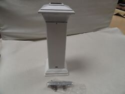 Dock Edge 96-250f Solar Cleat And Light White 16 Marine Boat