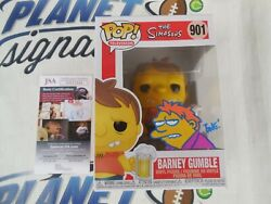 Tone Rodriguez Signed And Sketched Barney Gumble Funko Pop Jsa Coa The Simpsons