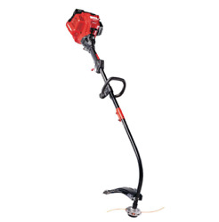 Curved Shaft Trimmer Gas Weed Eater 25cc Fixed Line Troybilt 2-cycle Cutter Tool