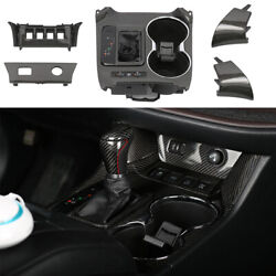 For Toyota Highlander 14-2019 Real Carbon Fiber Middle Console Gear Shift Panel