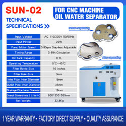 New Floating Oil Skimmer Sun-02 Movable Cnc Cutting Fluid Purification Machine