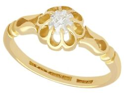 Antique 1912 0.33 Ct Diamond And 18k Yellow Gold Solitaire Engagement Ring