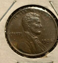 1926-d Lincoln Wheat Cent Penny Bn Brown Bu - Old U.s. Coins