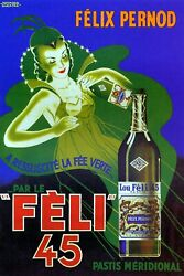 Felix Pernod Absinthe Resurrected The Green Fairy Vintage Poster Repro Free S/h