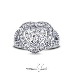 1.04ct E Vs2 Round Earth Mined Certified Diamonds Platinum Halo Right Hand Ring