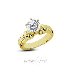 0.30ct F Si1 Round Natural Diamond Yellow Gold Vintage Solitaire Engagement Ring