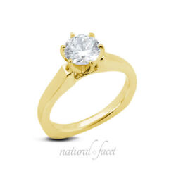 1.20ct I Si2 Round Natural Diamond Yellow Gold Classic Solitaire Engagement Ring