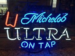 New Michelob Ultra On Tap Beer Bar Light Lamp Neon Sign 24x20