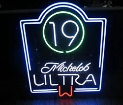New Michelob Ultra 19th Hole Golf Beer Bar Light Lamp Neon Sign 24x20