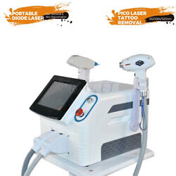 Portable Laser Nd Yag Tattoo Diode Permanent Hair Removal Skin Beauty Machine