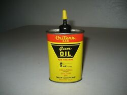 Vintage Outers 445 Gun Cleaning Firearm Oil Can Advertising Hunting 1/2 Full
