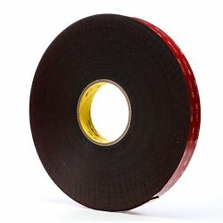 3m 5952-1inx36yd Acrylic Foam Tape - Package Qty 9