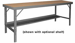 Wbf-th-36120-95 - Folding Leg Workbench-temp Hdbd-36x120-no.95gray - Pack Of 1