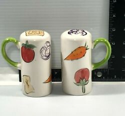 Collectible Fruit And Vegetable Salt And Pepper Shaker Set With Handles