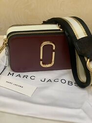 MARC JACOBS Snapshot Small Camera Bag Multicolored Burgundy New With Tags $220.00