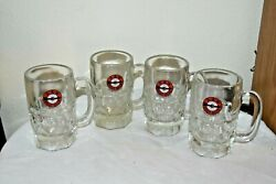 4 Vintage A And W Ice Cold Root Beer Arrow Heavy Cup - Mug Us Made Euc