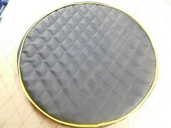 Peterbilt Fuel Tank Covers Set Of 2 Black Quilted With Yellow Trim 23