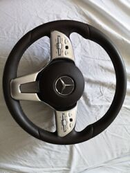 Mercedes C E S W167 W205 W213 W222 Amg Restyling Steering Wheel Leather With Srs