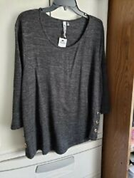Woman's 2x Ny Collection Sweater Top, New With Tags