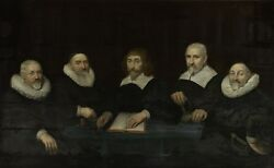 Perfect 36x24 Oil Painting Handpainted On Canvas The Regents Of The Home@n9101