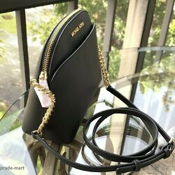 Michael Kors Women Lady Leather Black Crossbody Bag Handbag Messenger Purse MK P C $199.00