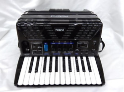 Used From Roland Fr-1x Black Electron Piano V-accordion Keyboard used From Japan
