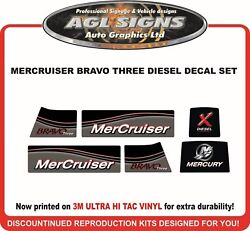 Mercury Mercruiser Bravo Three X Diesel Outdrive Replacement Decal Kit One Two