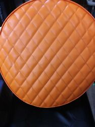 Peterbilt Fuel Tank Covers Set Of 2 Orange Quilted Size 23