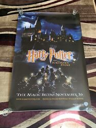 Vintage Harry Potter And The Sorcerers Stone 48x72 Bus Stop Movie Poster 4x6 Feet