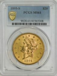 1895-s 20 Gold Liberty Ms61 Secure Plus Pcgs 943592-24