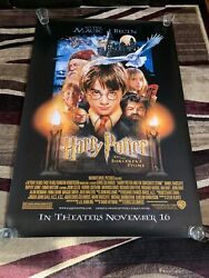 """Vintage 2001 Harry Potter And The Sorcerers Stone 48x72"""" Bus Stop Movie Poster"""