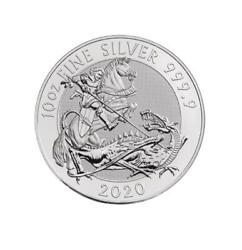✅ In-hand ✅ Fast Shipping 2020 10 Oz. Queen Beasts 'dragon' 9999 Fine Silver-